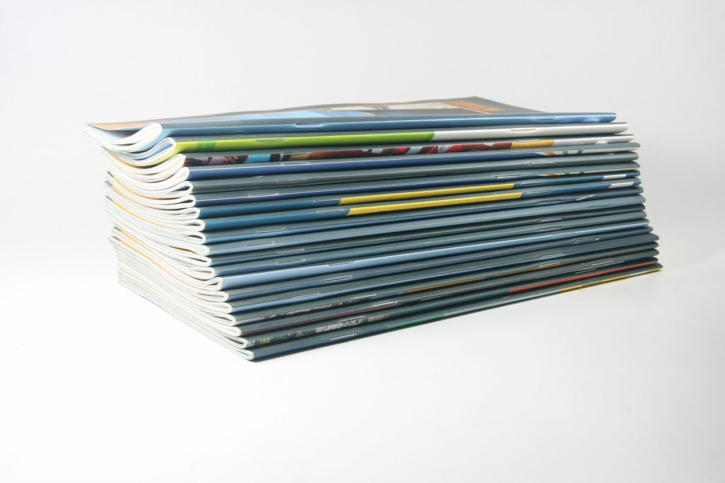 Image of a stack of magazines