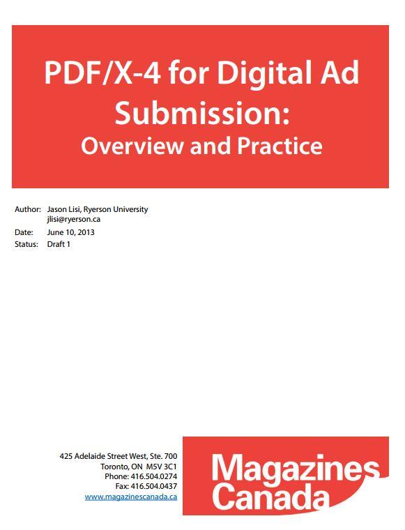 Magazines Canada PDF/X-4 White Paper
