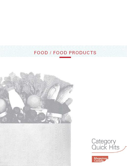 Category Quick Hits: Food and Food Products