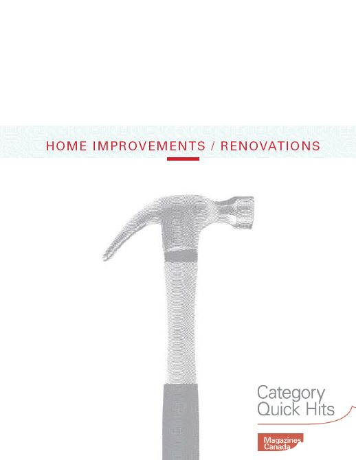 Category Quick Hits: Home Improvements and Renovations