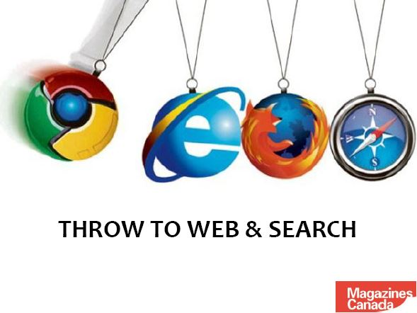Throw to Web & Search