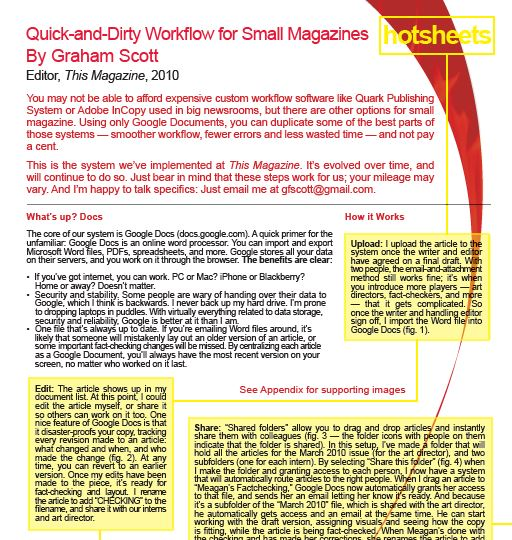 Quick-and-Dirty Workflow for Small Magazines by Graham Scott