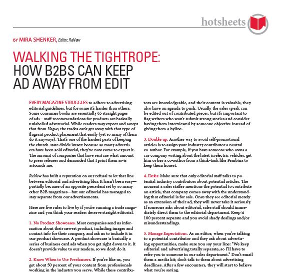 Walking the Tightrope: How B2Bs Can Keep Ad Away From Edit by Mira Shenker