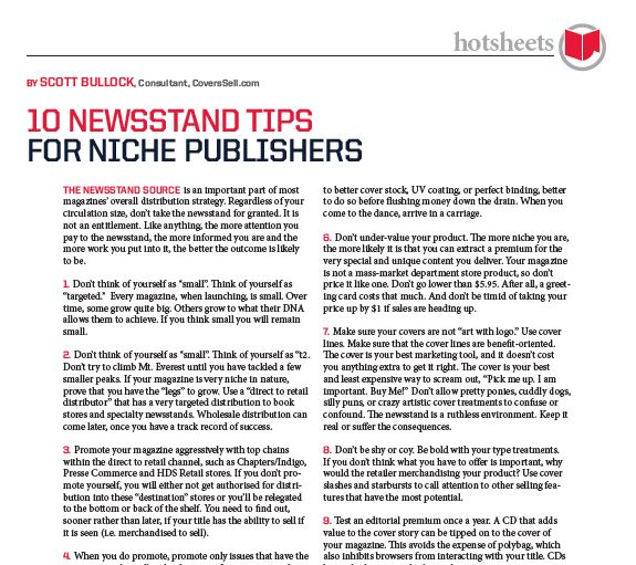 10 Newsstand Tips for Niche Publishers by Scott Bullock