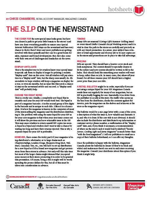The S.I.P. on the Newsstand by Chris Chambers