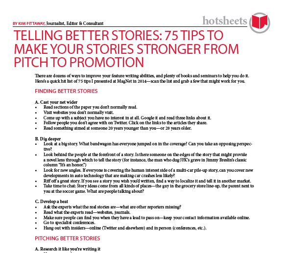 Telling Better Stories: 75 Tips to Make your Stories Stronger from Pitch to Promotion by Kim Pittaway