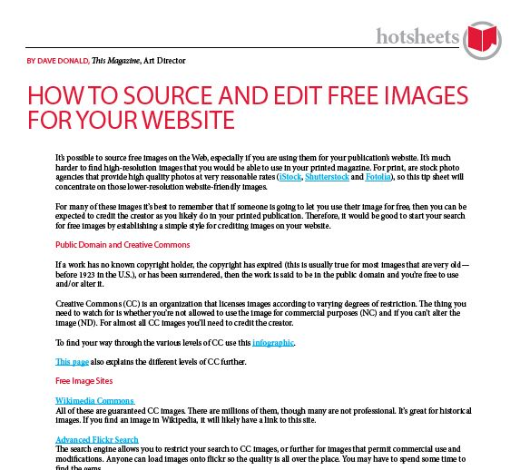 How to Source and Edit Free Images for Your Website by Dave Donald