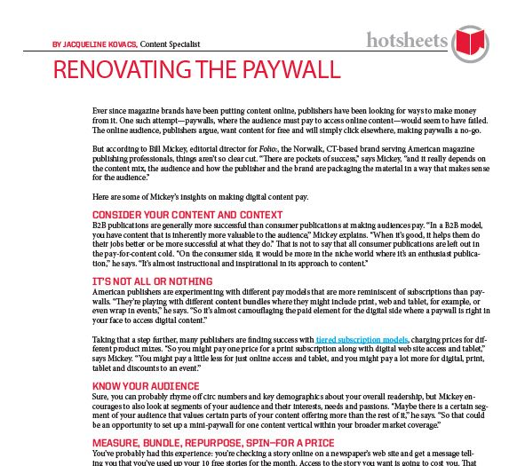 Renovating the Paywall by Jacqueline Kovacs