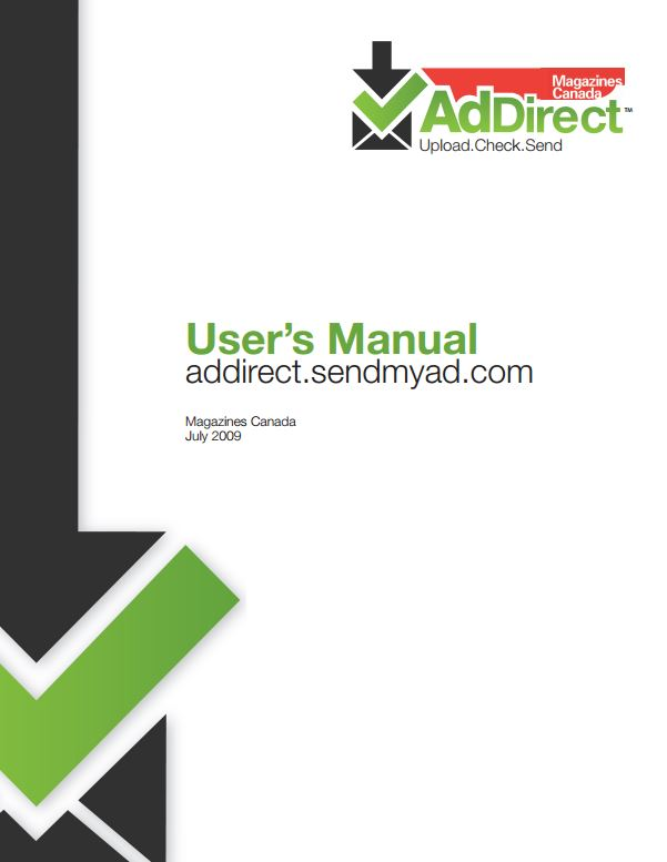 AdDirect™ User's Manual