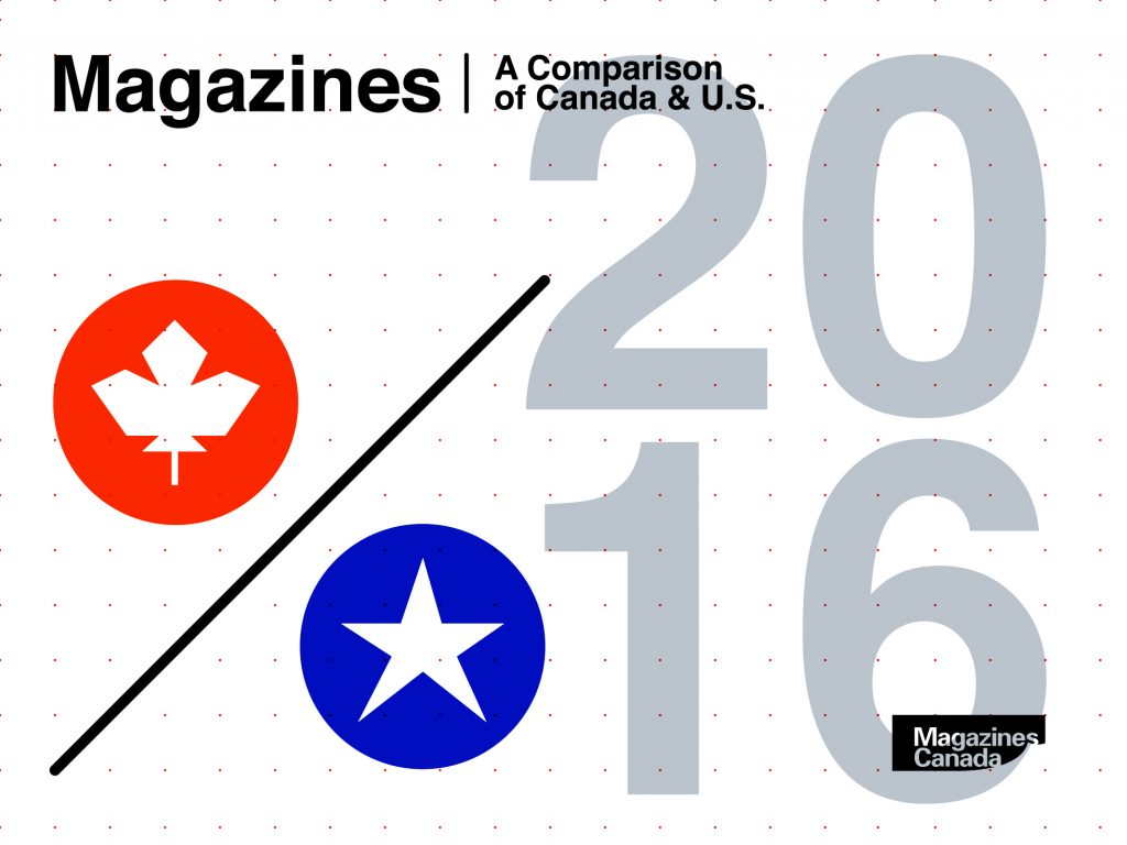 2016 Magazines: A Comparison of Canada & U.S.
