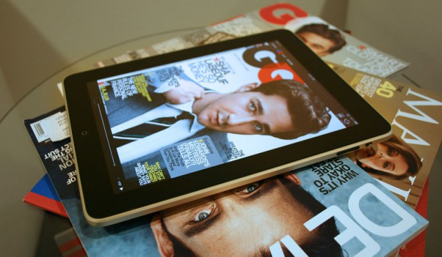 iPad and print magazines