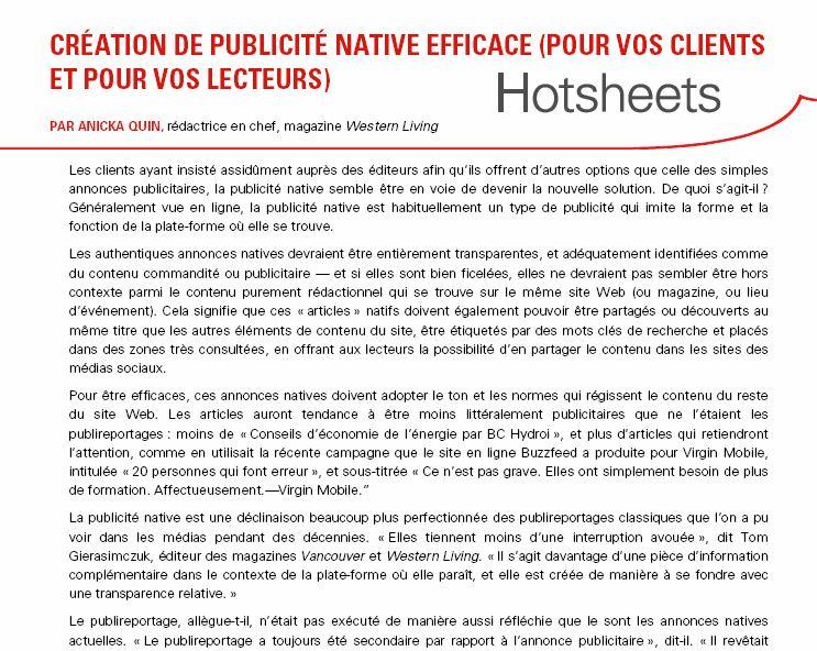 Création de publicité native efficace par Anicka Quin