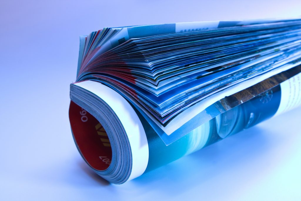 Image of a rolled magazine