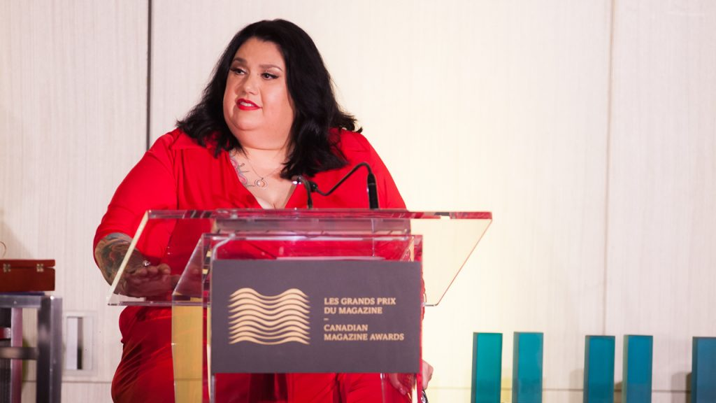 Candy Palmater at the Canadian Magazine Awards / Candy Palmater aux Grands prix du magazine