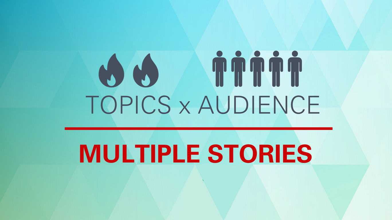 Topics x Audience = Multiple Stories