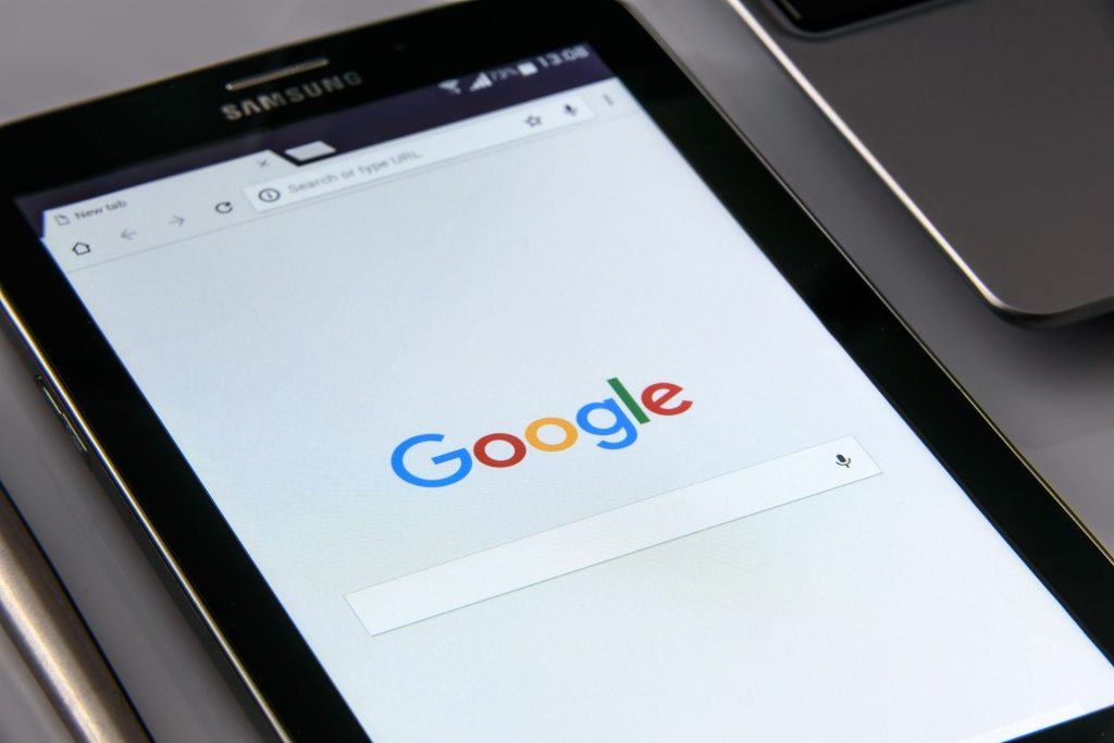 Google search open on a smartphone.