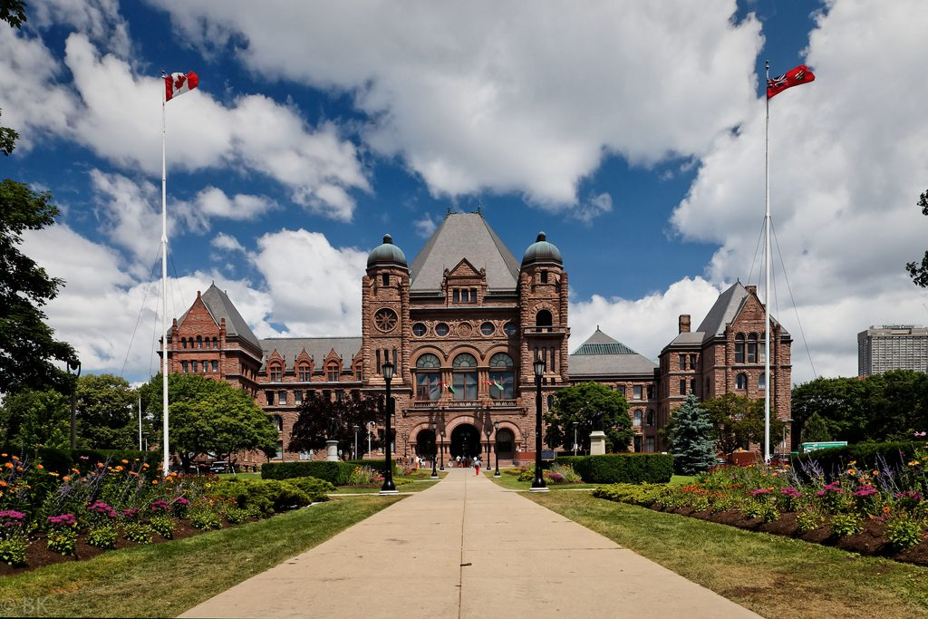 Photograph of Queen's Park, Toronto, Ontario.