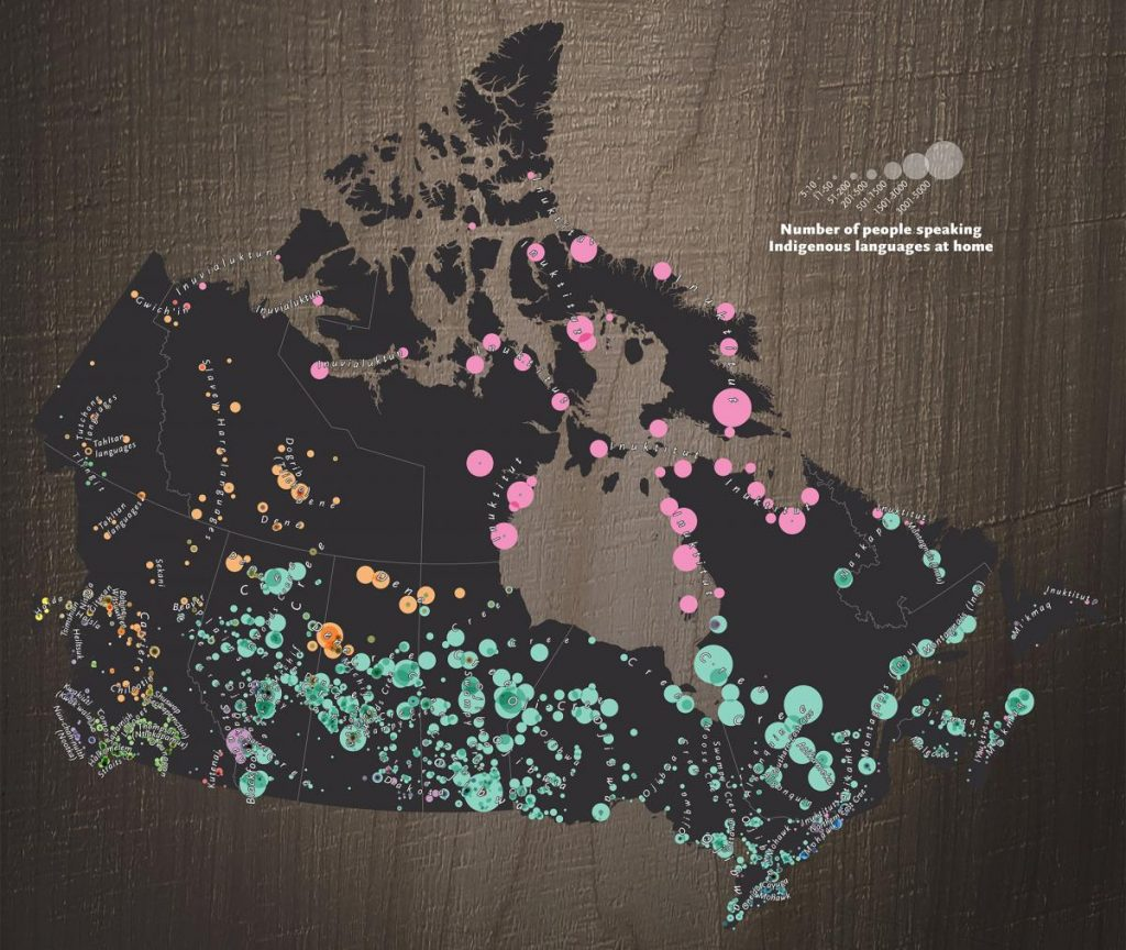 """Indigenous Languages of Canada"" Map"
