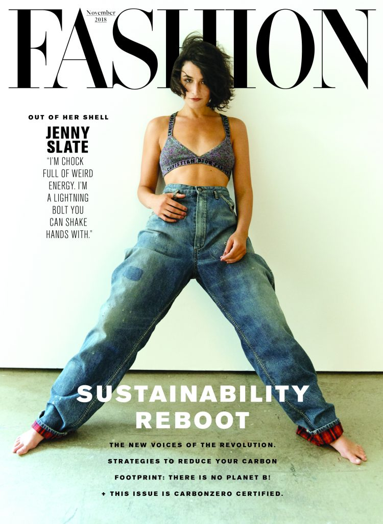 Cover of FASHION magazine's November 2018 issue.