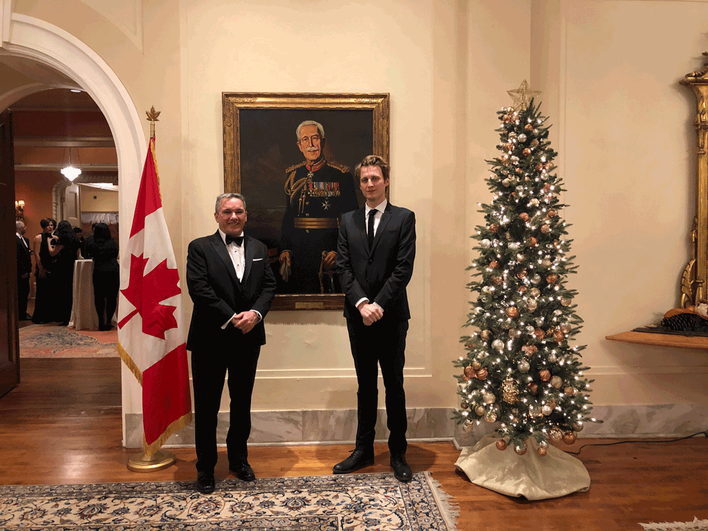 Magazines Canada Board members Scott Jamieson, Group Publisher and Director of Engagement, Annex Business Media (left) and Michal Kozlowski, Associate Editor, Geist (right) attend the Governor General's Literary Awards in Ottawa on November 28, 2018.