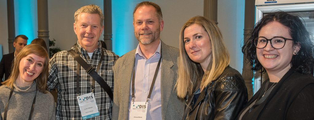 DIS 2019 Canadian delegation: Brianne DiAngelo, Curtis Gillespie, Edward Birkett, Sue Haas and Kiley Pole. Credit: Ole Bader