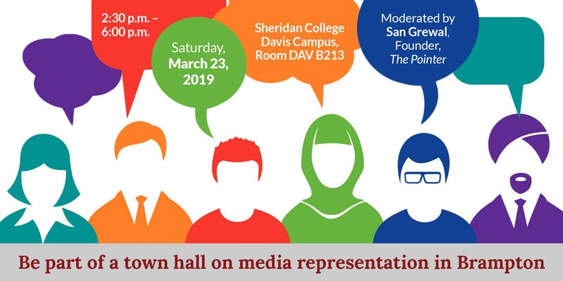 Be part of a town hall on media representation in Brampton!