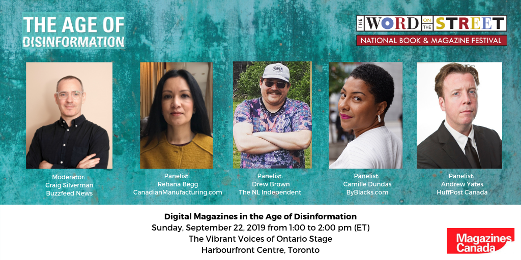Digital Magazines in the Age of Disinformation at the Word on the Street Toronto