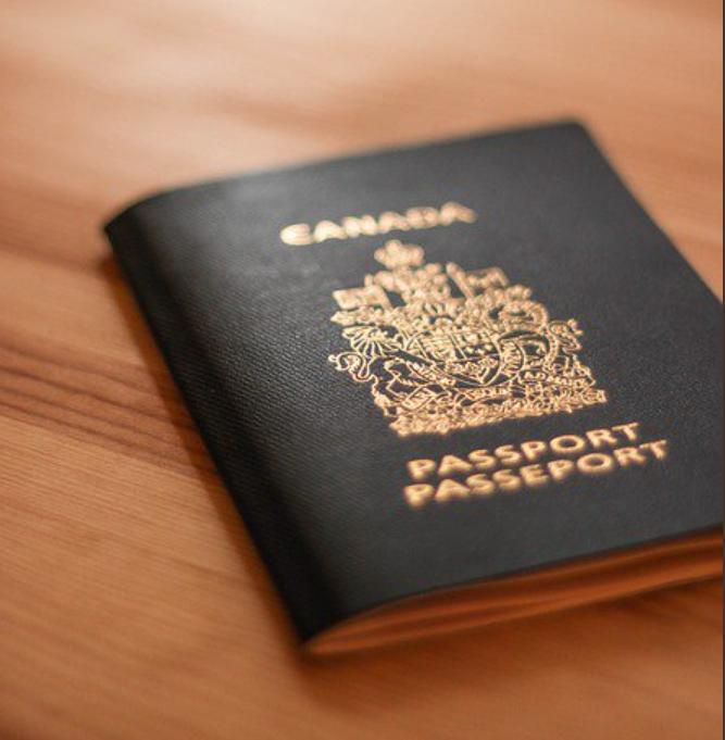 Photograph of Canadian passport