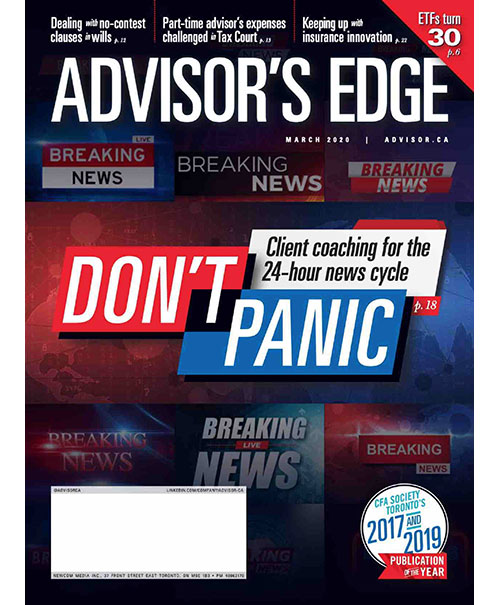 Cover of Advisor's Edge magazine